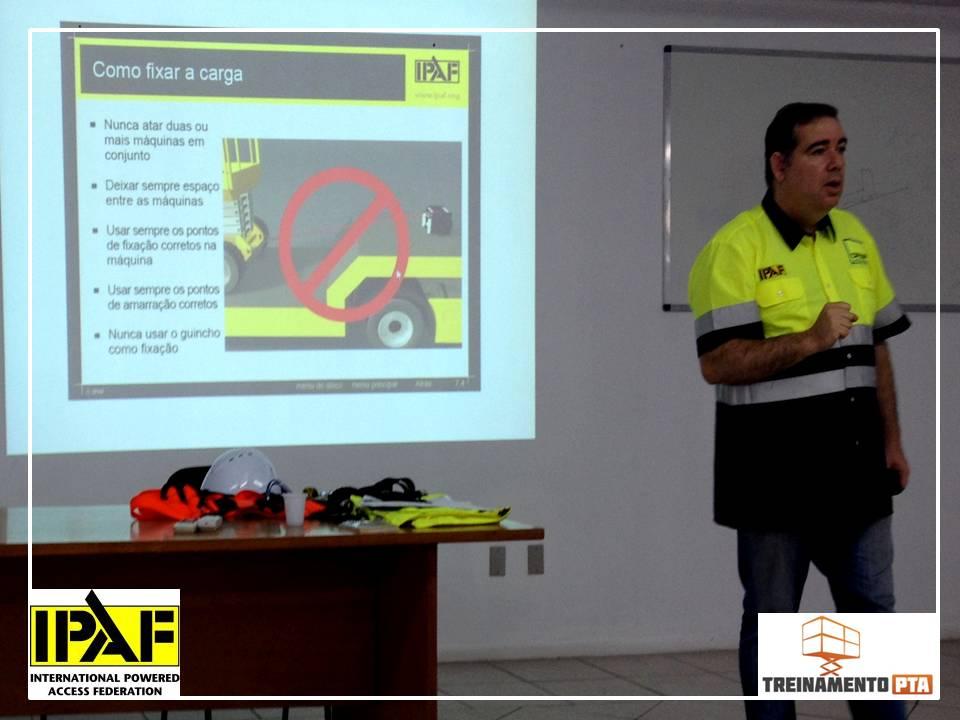 Treinamento PTA IPAF CARGA E DESCARGA 1